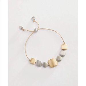 J.jill hand brushed squares bracelet